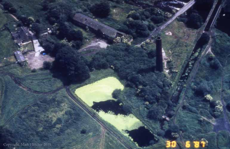 Burrs Mill aerial photo.