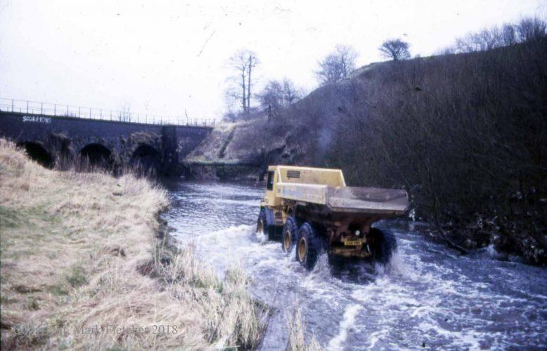 20-tonne dumper in river Irwell.